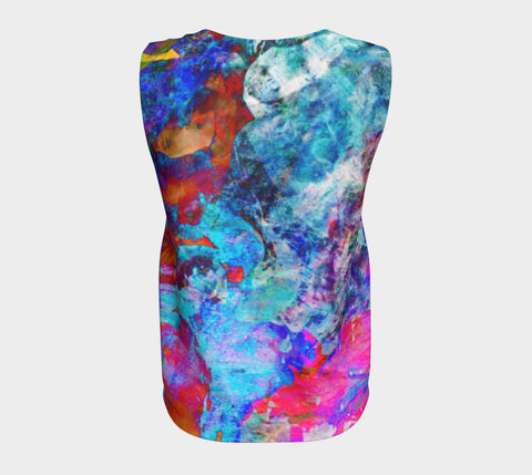 Painted Party Animal - Loose Tank Top Long &&-Loose Tank Top (Long)-Fate Designs-Fate Designs