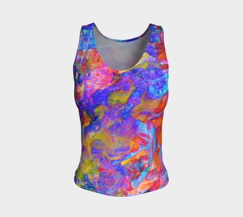 Painted Party Animal - Tank Top &&-Fitted Tank Top (Regular)-Fate Designs-Fate Designs