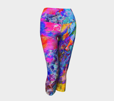 Painted Party Animal - Yoga Capris &&-Yoga Capris-Fate Designs-Fate Designs