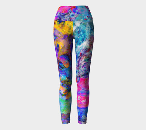 Painted Party Animal - Yoga Leggings &&-Yoga Leggings-Fate Designs-Fate Designs