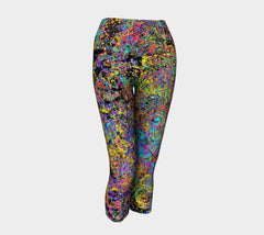 Particle Flash Dance - Yoga Capris-Yoga Capris-Fate Designs-Fate Designs