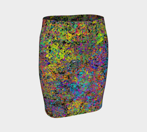 Particle Flash Dance - Hug Skirt-Fitted Skirt-Fate Designs-Fate Designs