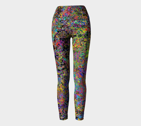 Particle Flash Dance - Yoga Leggings-Yoga Leggings-Fate Designs-Fate Designs