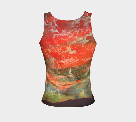 Twilight of the Phoenix-Fitted Tank Top (Regular)-Fate Designs-Fate Designs