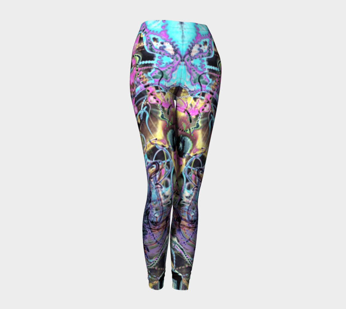 Quantum Sunrise - Roots in the Third Eye - Yoni - Leggings-Leggings-Fate Designs-Fate Designs