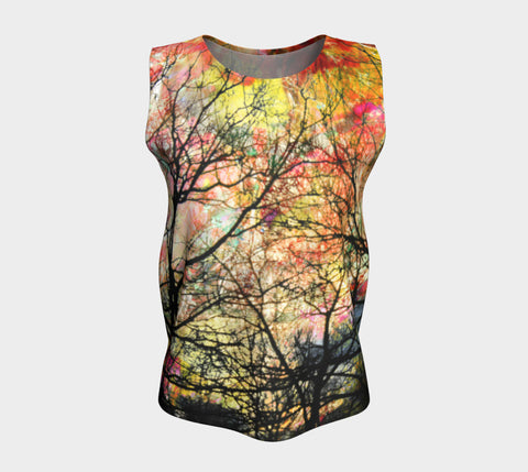 Equinox's Hush (Autumn Sky)-Loose Tank Top (Long)-Fate Designs-Fate Designs