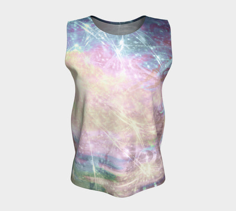 Colour of Friendship-Loose Tank Top (Long)-Fate Designs-Fate Designs