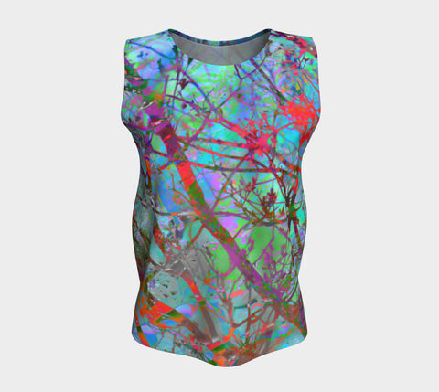 A Swim Through the Space Mermaid's Forest-Loose Tank Top (Long)-Fate Designs-Fate Designs