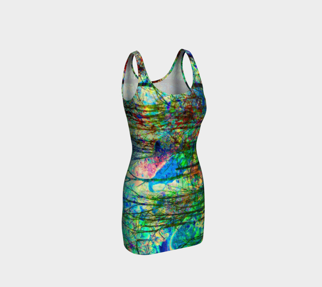 See the Forest for the Fire - Hug Dress-Bodycon Dress-Fate Designs-Fate Designs