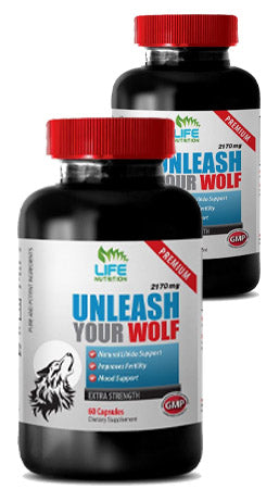 Unleash Your Wolf Male Enhancement Increase size and sex drive (2 Bottles)