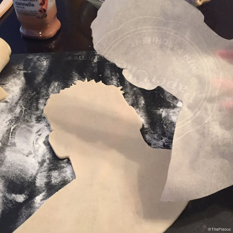 Cut out shape of head