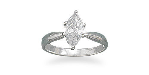 10mm x 5mm Marquise CZ Ring