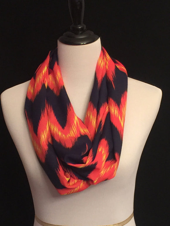 Navy Blue, Yellow & Orange Fire