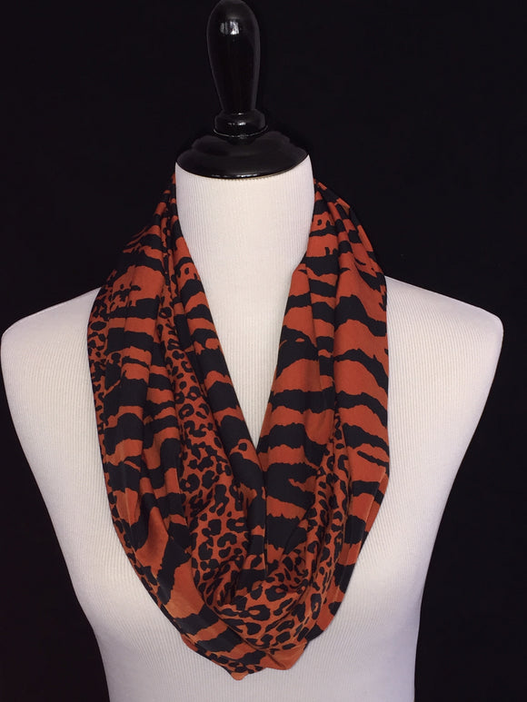 Black & Rust Animal Print