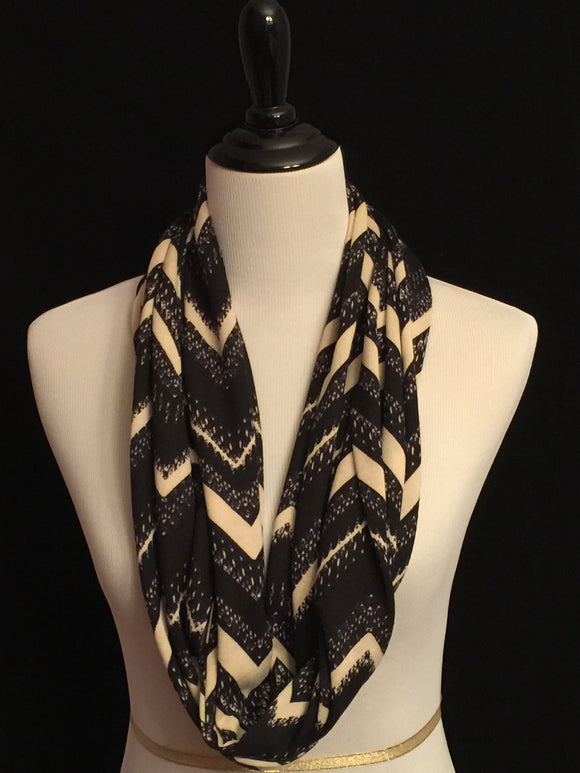 Black Chevron on Cream Hacci Sweater