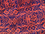 Royal Blue & Coral Bohemian Print