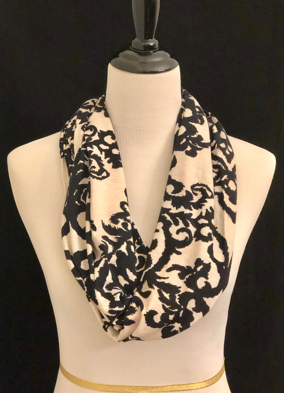 Tan with Black Paisley Print