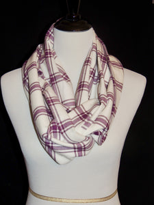 Purple & White Plaid