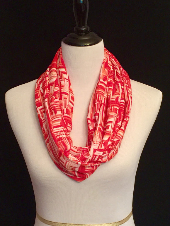 Coral & Red Mirror Print