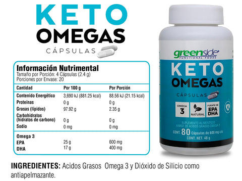 Greenside Paquete KETO Omegas