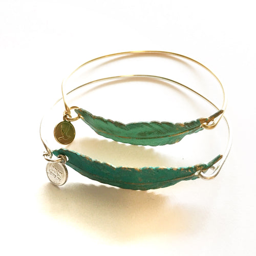 Patina Feather Bangle