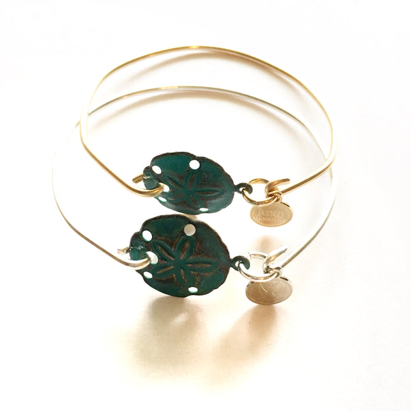 Patina Sand Dollar Bangle