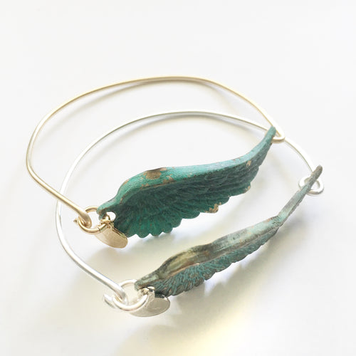 Patina Wing Bangle