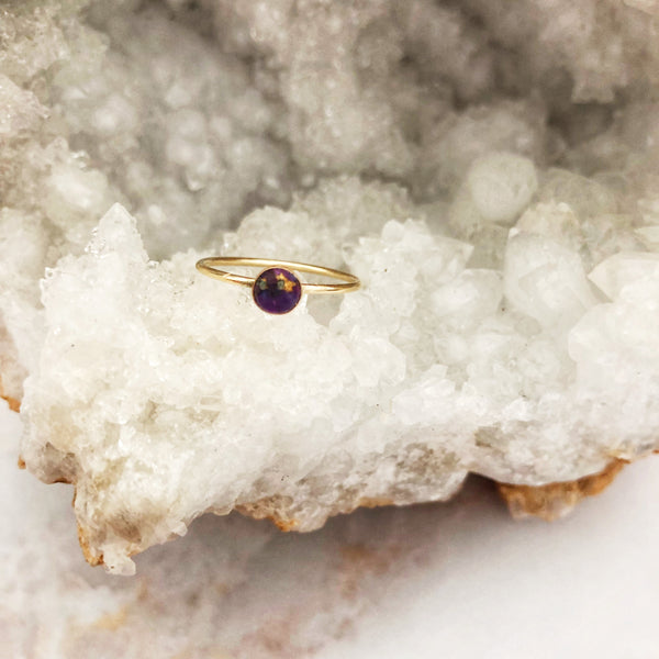 Purple Turquoise Mini Ring