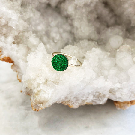 Mermaid Druzy Mini Ring
