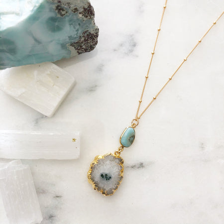 Agate & Moonstone Ceia Necklace