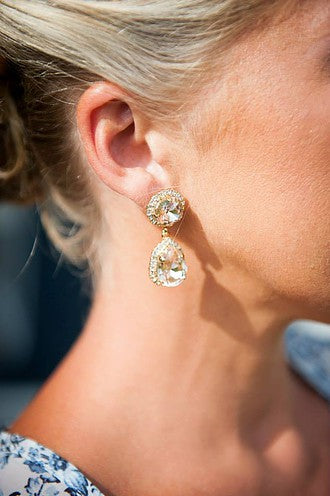 Sunburst Double Drop Earring