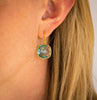 LABRADORITE CUSHION CUT DROP EARRINGS