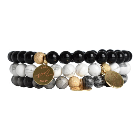 Signature Beaded Stack - Naturals