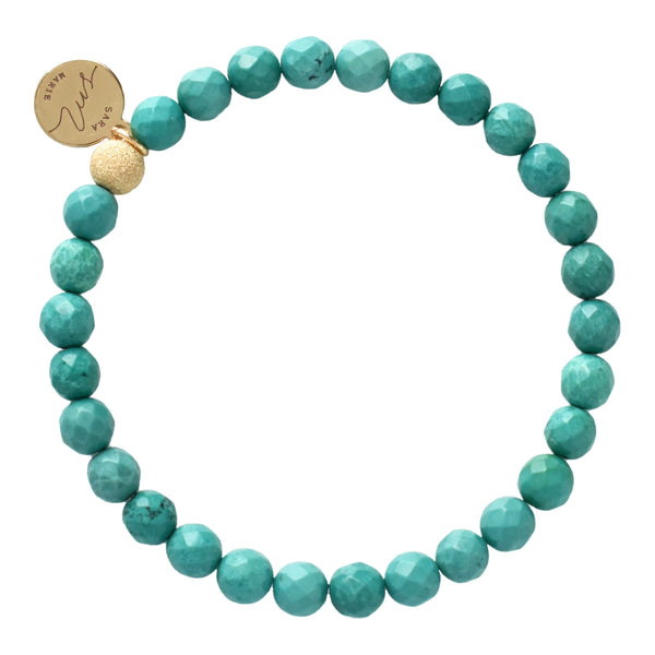 Turquoise Faceted Beaded Bracelet