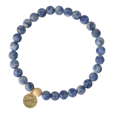 Blue Vein Beaded Bracelet