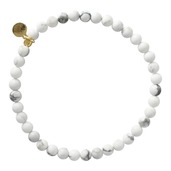 Mini Beaded Bracelet - White Howlite