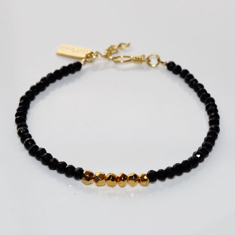 Black Onyx & Golden Pyrite Bracelet