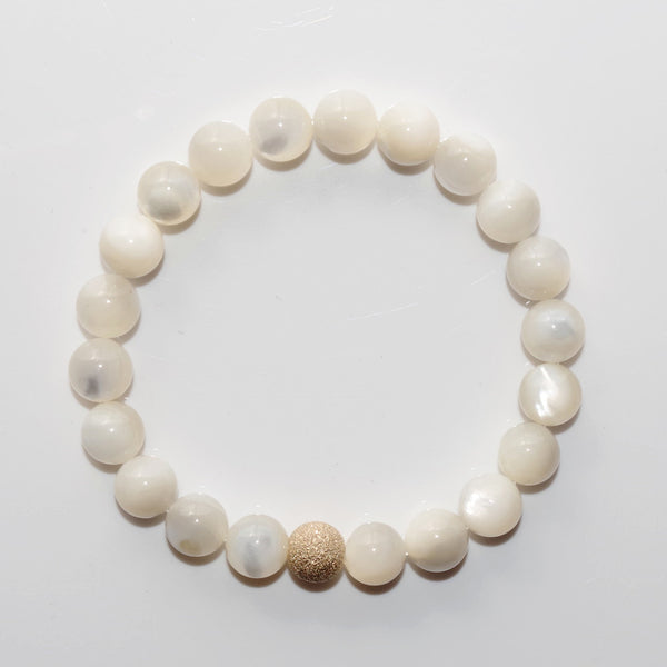 LUXE Beaded Bracelet - Mother of Pearl