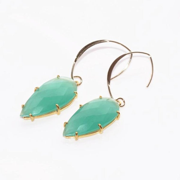 Prism Earrings Aqua Chalcedony