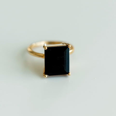 Black Onyx Statement Ring