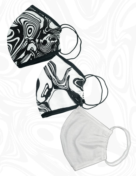 Unisex AyA Signature Printed Fitted Masks/ 3 Piece Set