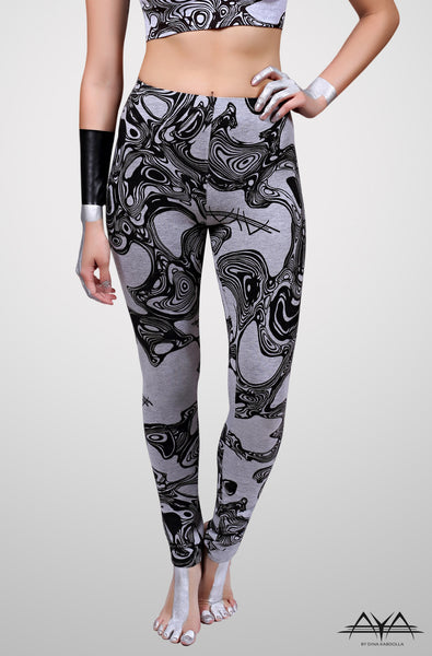 Zi Regular Legging Light Printed Grey