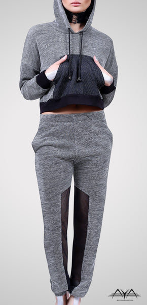 Cropped Hoodie With Fitted Sweat Pant