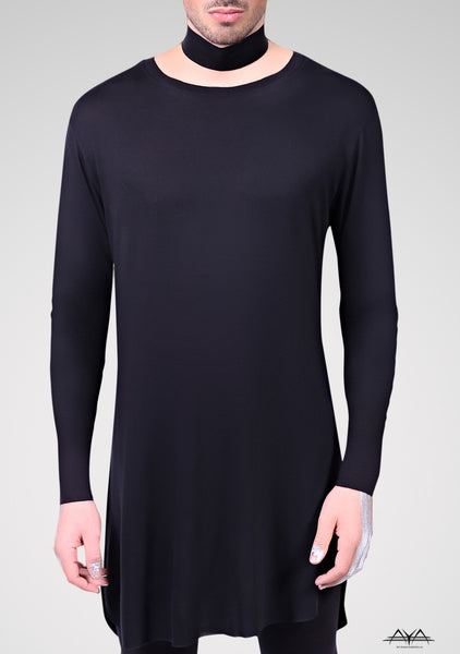 Long Unisex T-Shirt Noir