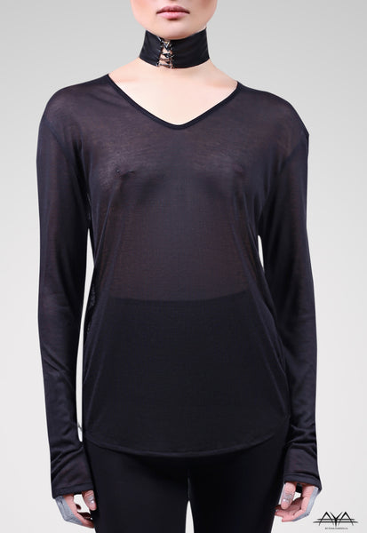 Unisex V-Neck Shirt Noir