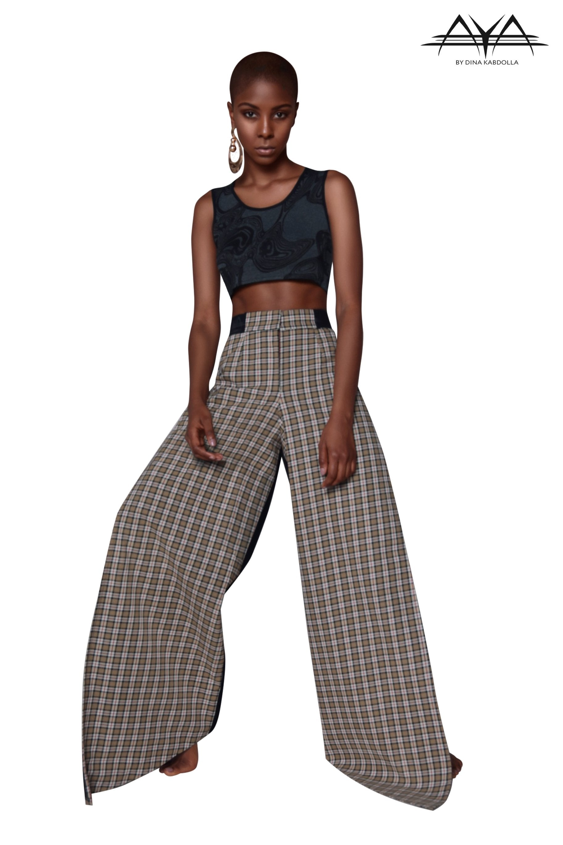 Dupri Asymmetric Two Side Slit Pant