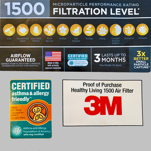 HEPA Face Mask 3M Filtrete Filters- 3 per pack