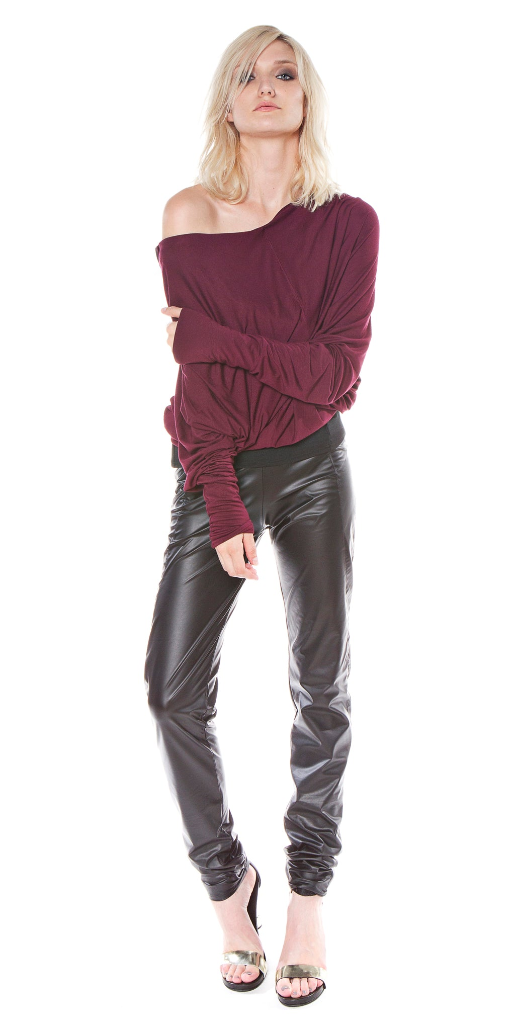 Vegan Leather Erin Straight Leg Pant