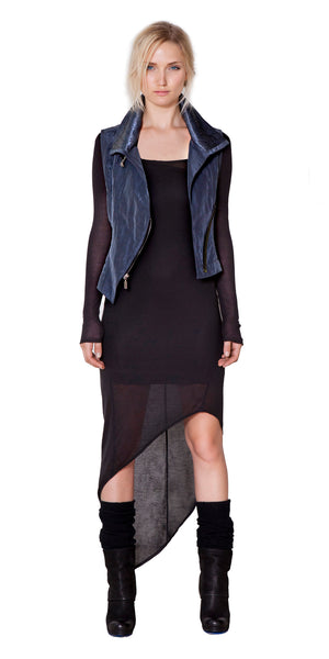 Modern Maxi Dress- Long Sleeve with asymmetric hem