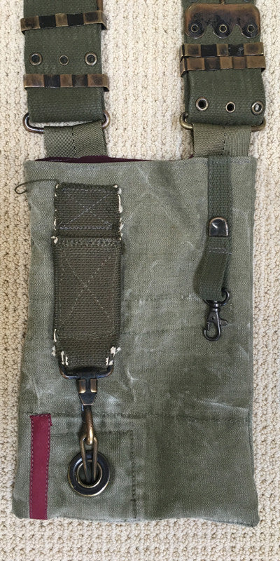 Vintage Military Mini Messenger Bag V4
